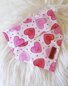 Bandana with love hearts