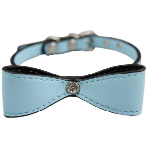 Adjustable blue bow collar