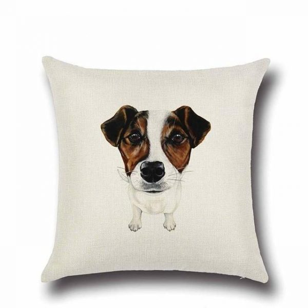 Jack Russell Throw Cushion Cover
