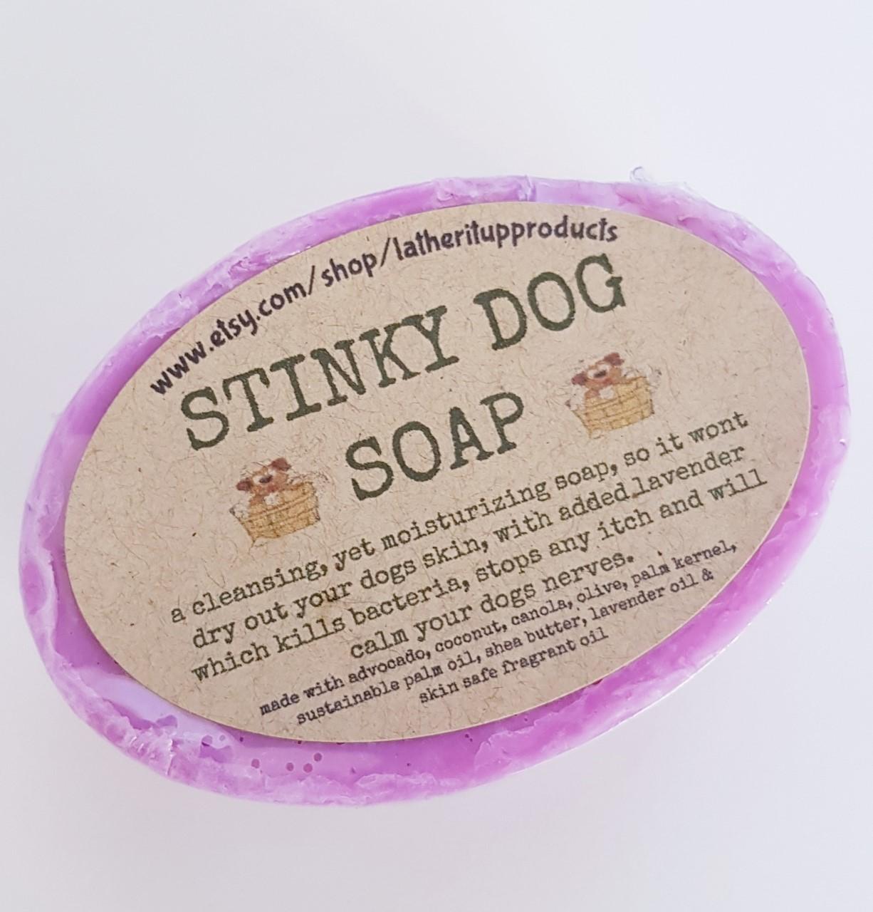 Stinky dog soap purple